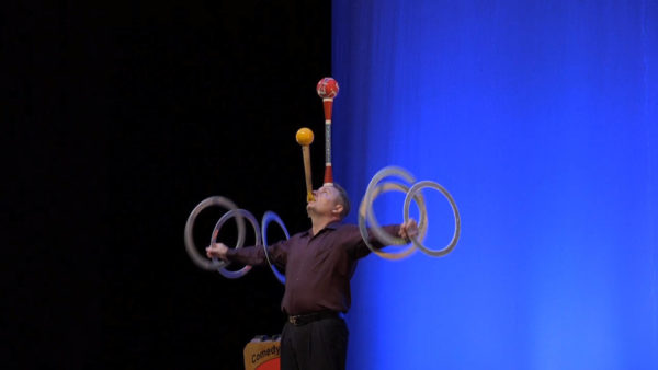 non-musical casino entertainment comedy and juggling bruce manners