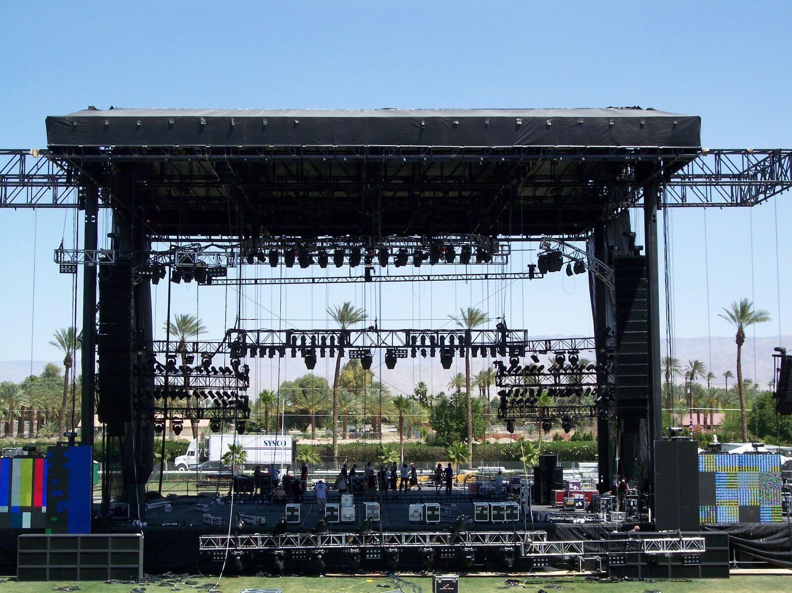 outdoor entertainment event stage