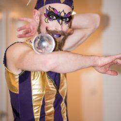 Crystal Ball Juggler Lien DeLong Photography