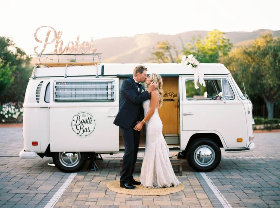 wedding photo with van