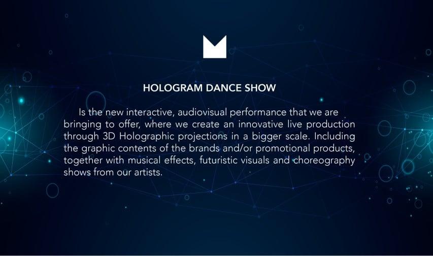 mestizo holdgram dance show