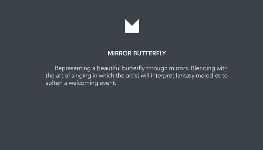 mestizo mirror butterfly show