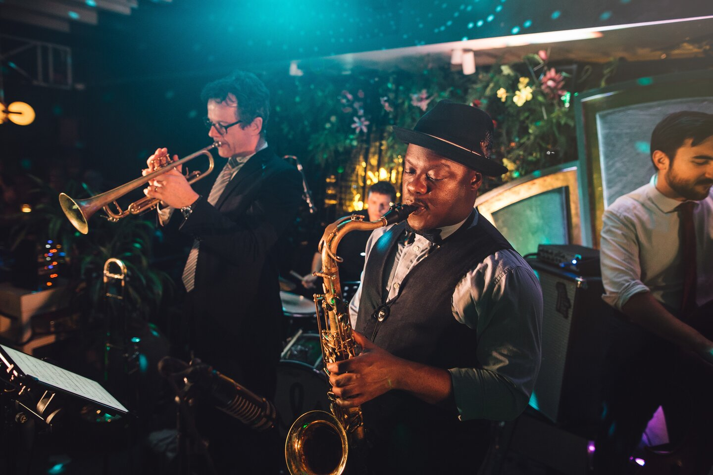 live band playing at an event